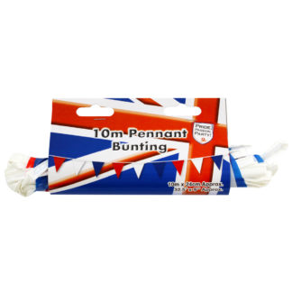 Product shot Red White And Blue Pennant Bunting - 10M