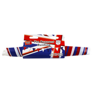 Product shot Red White And Blue Plastic Bunting - 7M