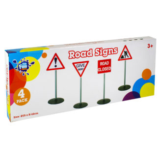 Product shot Role Play Warning Road Signs - 4 Pack
