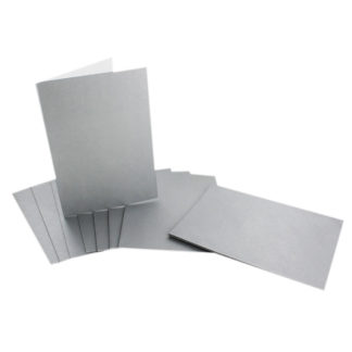Product shot Silver Metallic Cards - 5 X 7 Inch