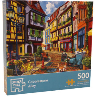 Product shot Cobblestone Alley 500 Piece Jigsaw Puzzle