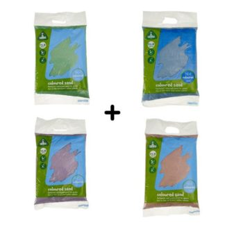Early Learning Centre Sand Bundle - 4 x 5kg Packs (Colours Vary) - Free Standard Delivery