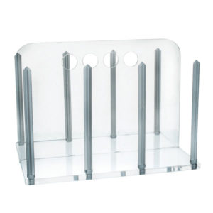 Eisco Acrylic Clear Petri Dish Rack for 90mm Dishes