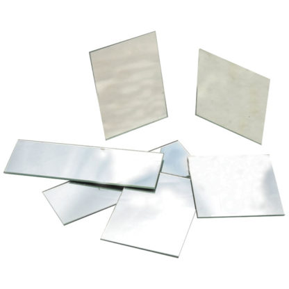 Eisco PH0514A - Plane Glass Mirrors - Unmounted 75 x 25mm - Pack of 10