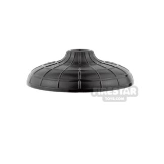 Product shot LEGO - Conical Hat with Raised Center  - Black