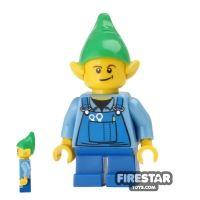 Product shot LEGO Holiday Mini Figure - Elf - Blue Overalls