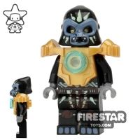 Product shot LEGO Legends of Chima Mini Figure - Gorzan - Pearl Gold Heavy Armour