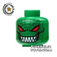 Product shot LEGO Mini Figure Heads - Batman - Killer Croc