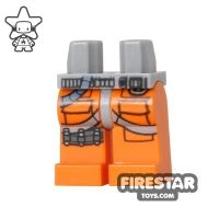 Product shot LEGO Mini Figure Legs - Orange - X-Wing Fighter