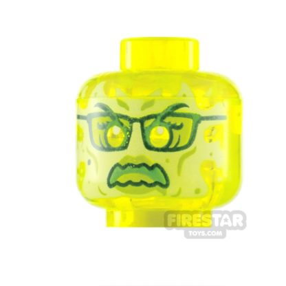 Product shot LEGO Minifigure Heads Slime Ghost with Glasses