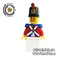 Product shot LEGO Pirate Mini Figure - Imperial Soldier II - Brown Beard