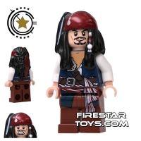 Product shot LEGO Pirates Of The Caribbean Mini Figure - Captain Jack Sparrow