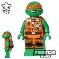 Product shot LEGO Teenage Mutant Ninja Turtles Mini Figure - Michelangelo - Jumpsuit