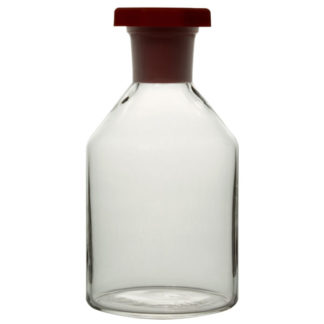 RVFM Clear Reagent Glass Bottles with Stopper 500ml Pack of 10