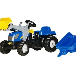 Rolly Toys Kids New Holland Front loader Tractor and Trailer
