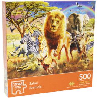 Product shot Safari Animals 500 Piece Jigsaw Puzzle