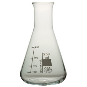 Simax Conical Flask Narrow Neck 250ml Pack 10