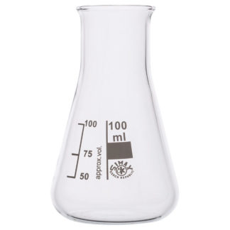 Simax Conical Flask Wide Neck 100ml Pack of 10