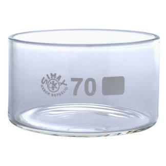 Simax Glass Crystallising Dish with Flat Bottom No Spout 100ml Ø70...