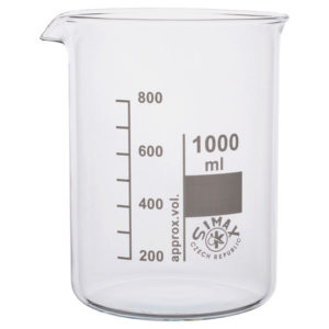 Simax Low Form Beakers 1 Litre Pack 10