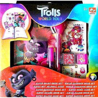 Product shot Trolls 2 Decorate Diary Set