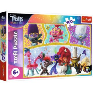 Product shot Trolls World Tour 160 Piece Jigsaw Puzzle