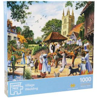 Product shot Village Wedding 1000 Piece Jigsaw Puzzle