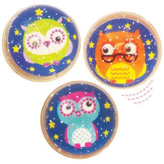 3 Little Owls Glitter Jet Balls (Pack of 10)