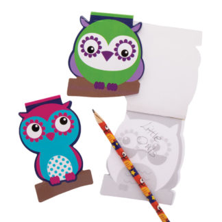3 Little Owls Memo Pads (Pack of 12)
