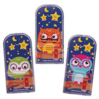 3 Little Owls Pinball Games (Pack of 12)