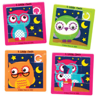 3 Little Owls Sliding Puzzles (Pack of 6)