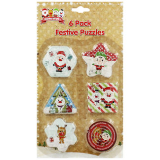 Product shot 6 Mini Festive Puzzles: Assorted