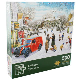 Product shot A Village Christmas 500 Piece Jigsaw Puzzle