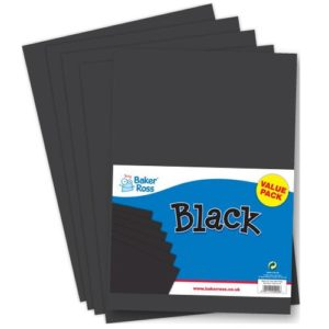 A3 Black Card - 50 sheets. Card weight 220gsm.