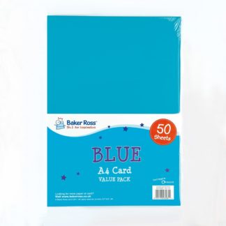 A4 Blue Card - 50 Sheets of Blue A4 220gsm Card