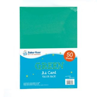 A4 Green Card - 50 Sheets of Green A4 220gsm Card