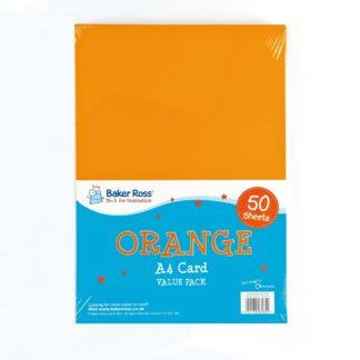 A4 Orange Card - 50 Sheets of Orange A4 220gsm Card