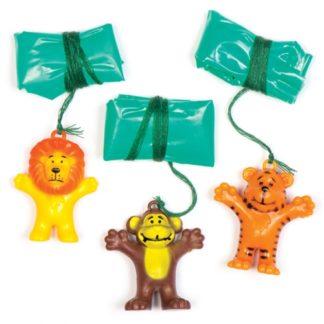 Animal Parachutists - 8 animal toys with plastic parachute. 4 designs: Monkey