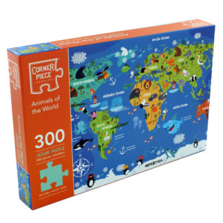 Product shot Animals Of The World 300 Piece Jigsaw Puzzle