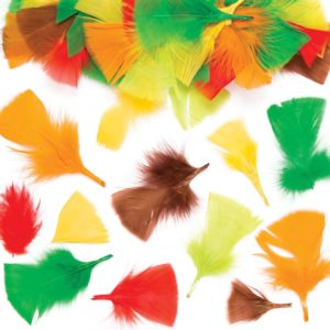 Autumn Craft Feathers (Pack of 120)