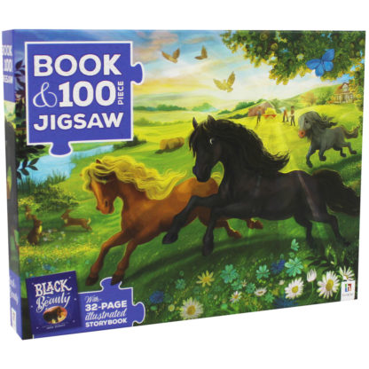 Product shot Black Beauty 100 Piece Jigsaw Puzzle And Book Set