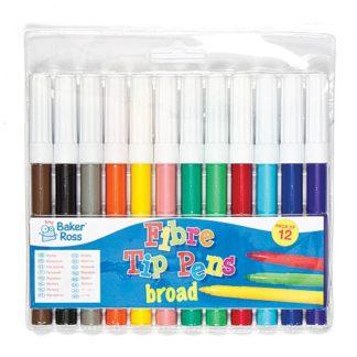 Broad Tip Marker Pens Value Pack (Pack of 12)