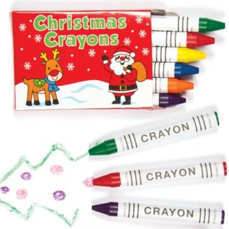 Christmas Crayons - 8 Pack of Mini Crayons for kids. 6 crayons per pack in assorted colours. Box size 7cm x 5cm. Perfect as stocking filler.