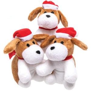 Christmas Dog Plush Pals (Pack of 3)