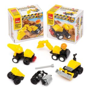 Construction Building Brick Kits (Pack of 4)