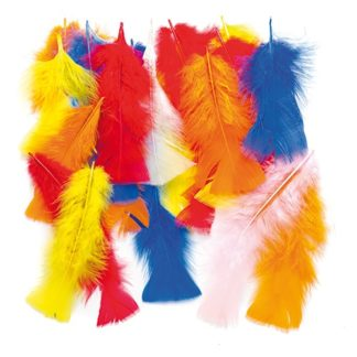 Craft Feathers - 150 assorted brightly coloured feathers. Approx 15cm long. Ideal for adding texture to crafts