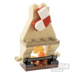 Product shot Custom Mini Set Mini Fireplace with Stocking