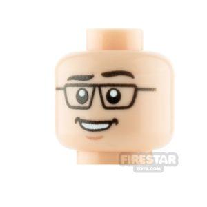 Product shot Custom Minifigure Heads Businessman