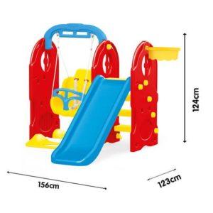 Dolu 4-in-1 Playground (H124 x L156 x W123cm)