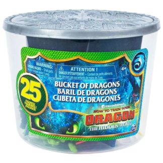Product shot Dreamworks Dragons: Bucket Of 25 Dragon And Viking Figures